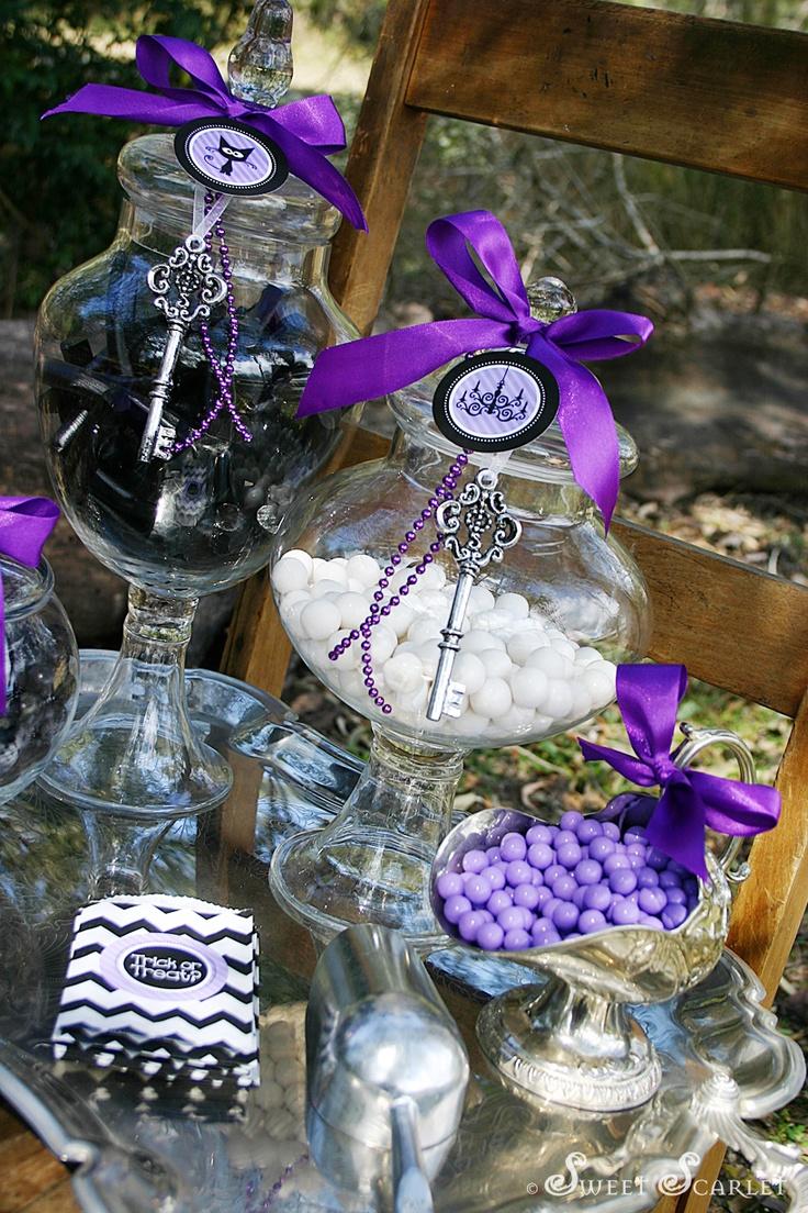 Halloween candy buffet idea -  Spook A Licious Halloween Candy Buffet