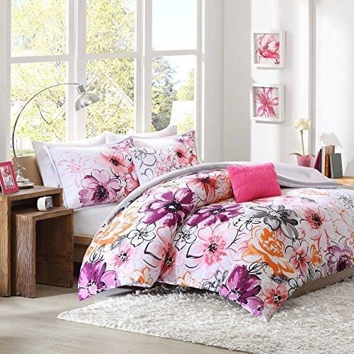25+ Gray and pink floral bedding ideas