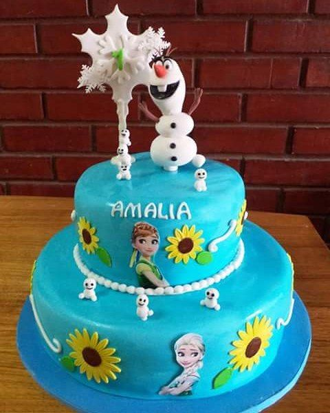 #Frozen2 #Olaf #Fondant #cake by Volován Productos #puq #Chile #VolovanProductos