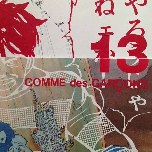 COMME des GARÇCONS 13  Comic by Otomo Katsuhiro to announce the SS13 sales