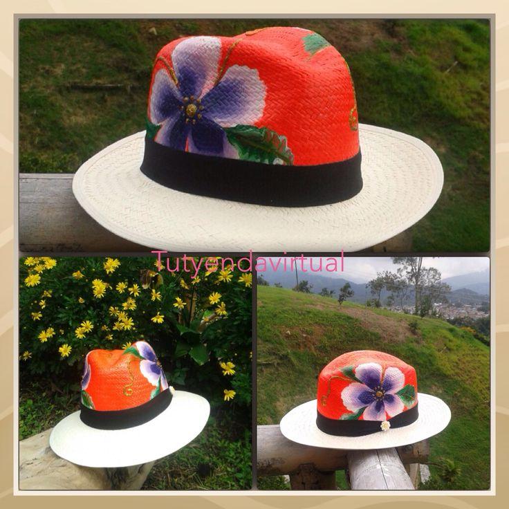 Complementa tu pinta con este genial accesorio. Sombreros pintados a mano.