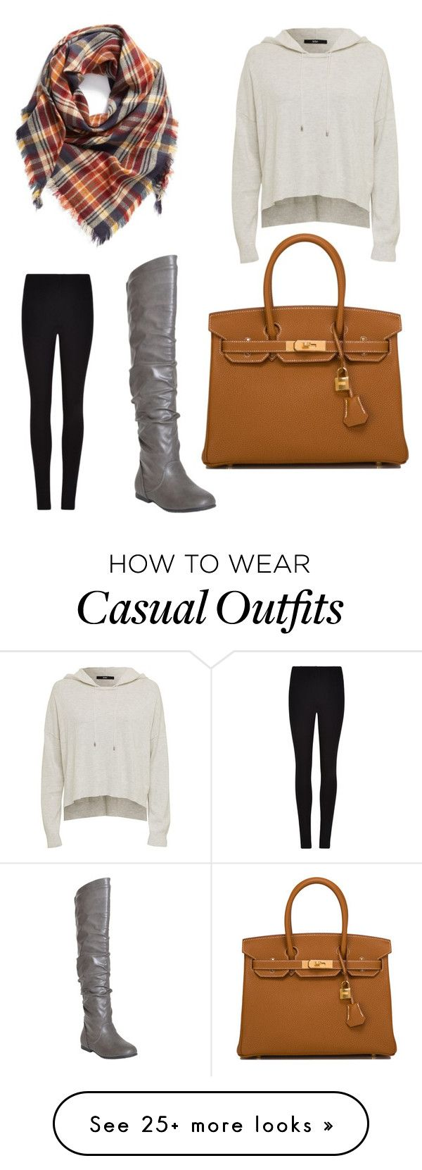 """Casual"" by justinezborowski on Polyvore featuring Winser London, Generation Y, Hermès and BP."