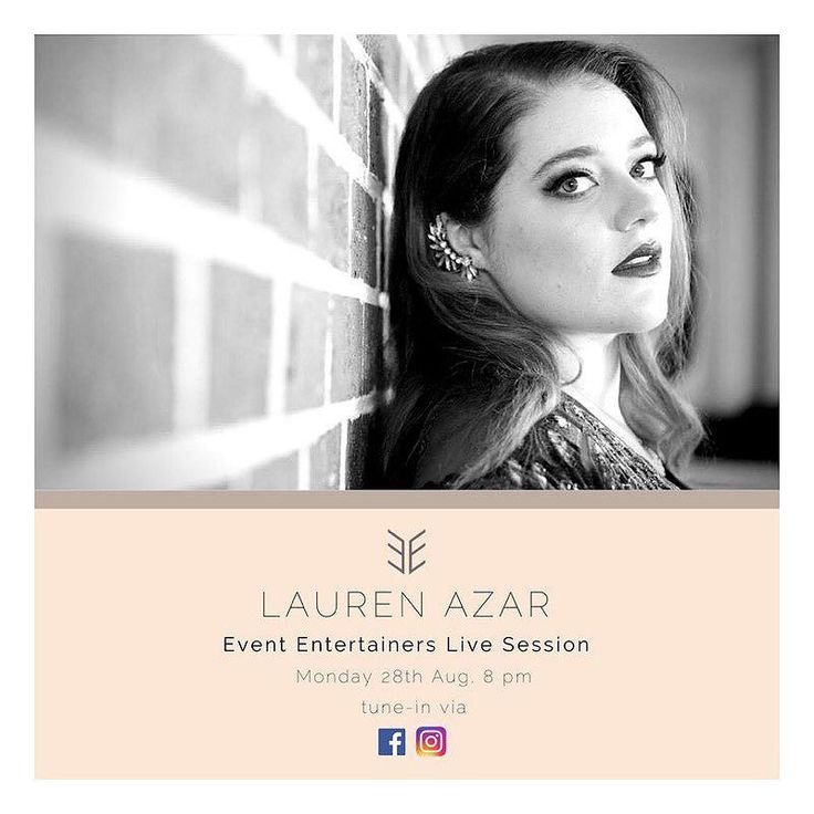 // EE LIVE SESSION // Our next installment of the EE live sessions will showcase our wonderful artist Lauren Azar Music   Lauren will be treating us to a live performance accompanied by her keyboard a double bass and guitar to make for some seriously sweet tunes! Come hang with us on Monday August 28th streaming LIVE to you via our fb page x  #evententertainers #laurenazar #eelivesessions #livemusic #sydneylivemusic