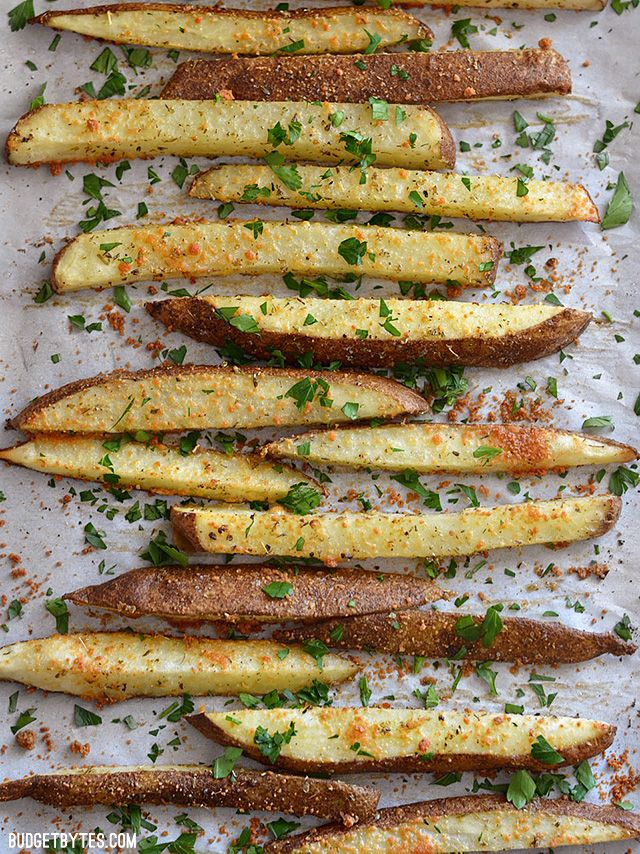 Thick Cut Garlic Parmesan Oven Fries