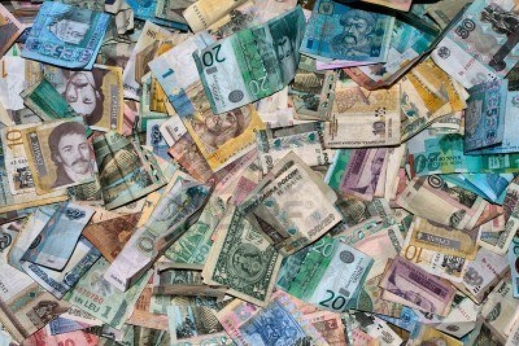Image detail for -Collection Of All Over The World Paper Money. HDRI Image Royalty Free ...