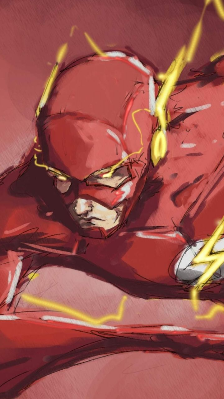 Artwork superhero flash the fastest man wallpaper
