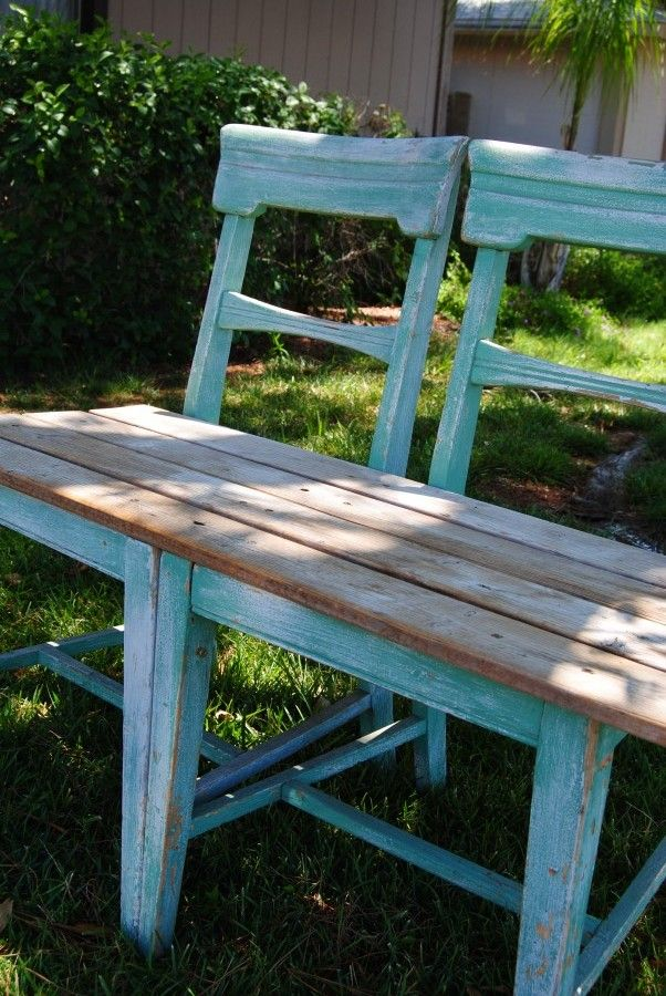 ideas about chair bench on pinterest unusual furniture diy bench