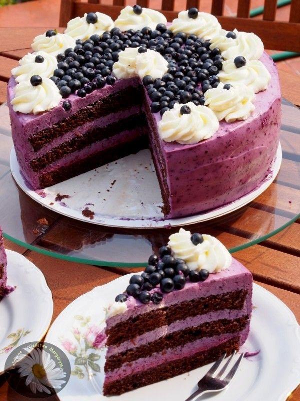 Kulinarne szaleństwa Margarytki: Tort jagodowy