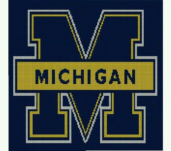 Crochet University Of Michigan Graph Crochet Pinterest