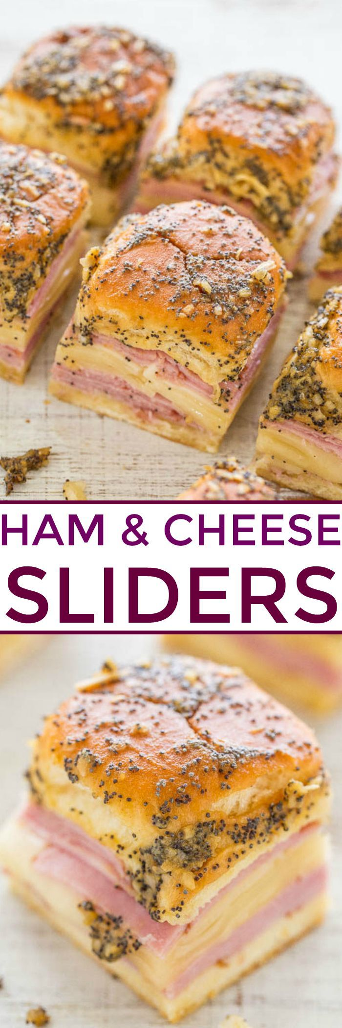 Ham and Cheese Sliders  – Drinks, Food & Snacks