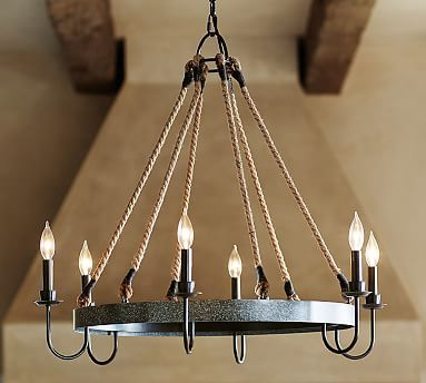 Napa Wine Barrel Chandelier #potterybarn