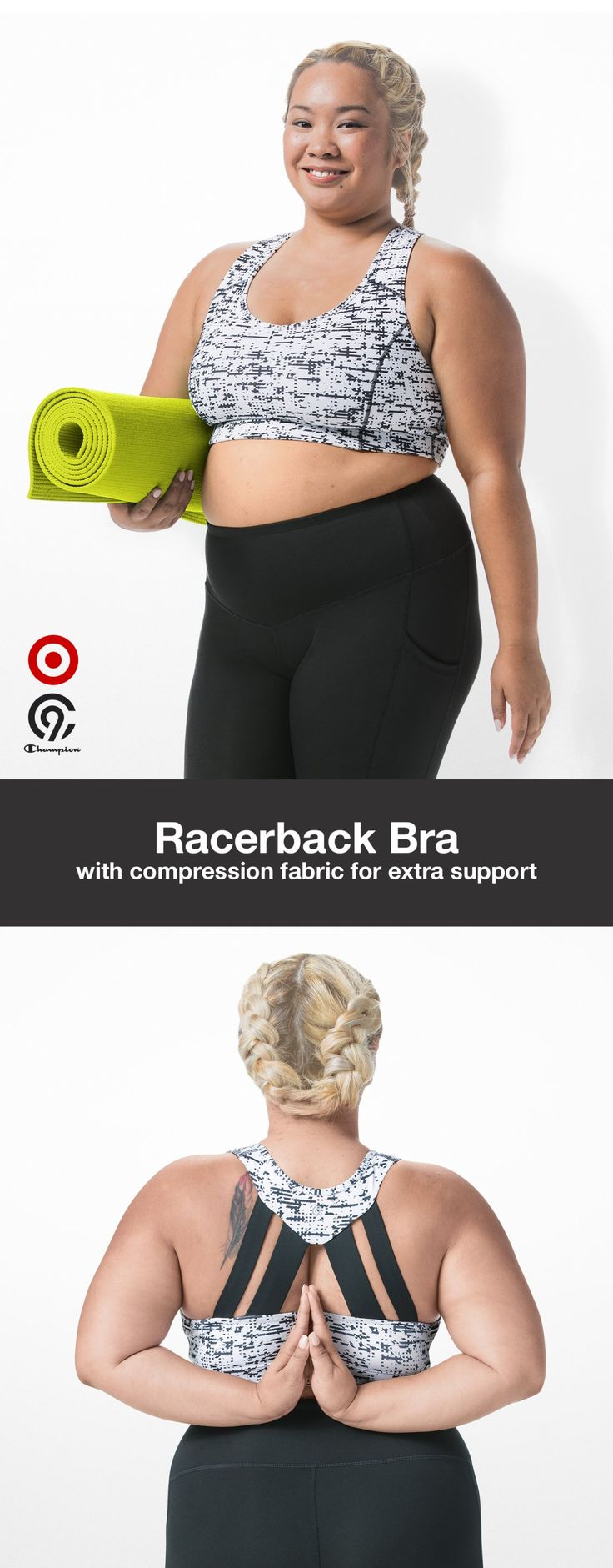 Pose with poise in the new C9 Champion racerback bra. Shop a new kind of strong. Only at Target.
