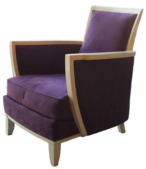 purple french art deco chair