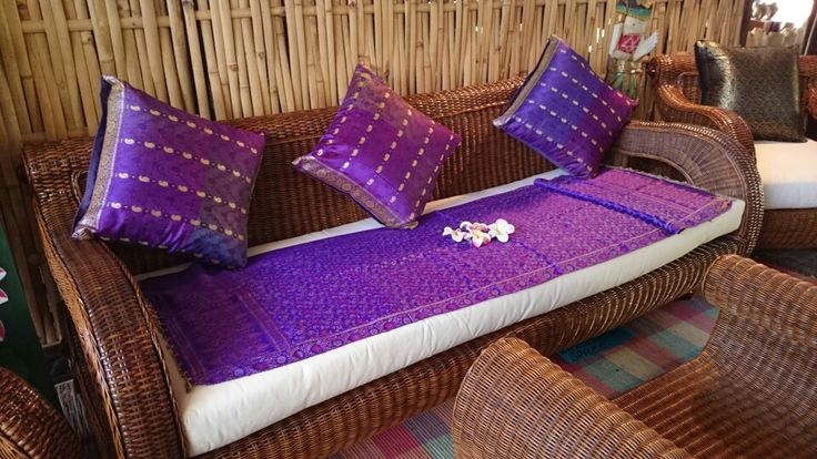 Beautiful Balinese Day Bed - is purple your colour? www.baligarden.com