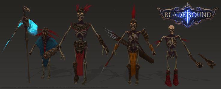 Bladebound Handpainted Skeleton www.facebook.com/zunioart