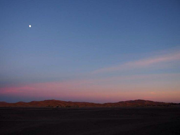 sunset of the Sahara