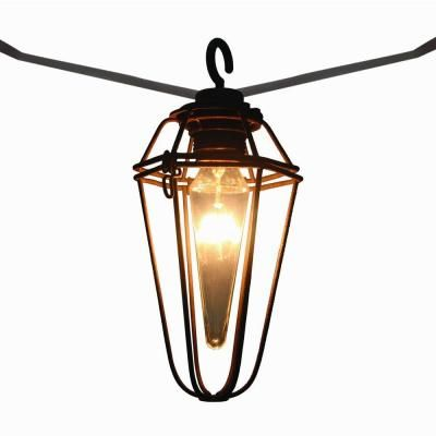 retro mercury bulb 8 light outdoor patio cafe string light. Black Bedroom Furniture Sets. Home Design Ideas