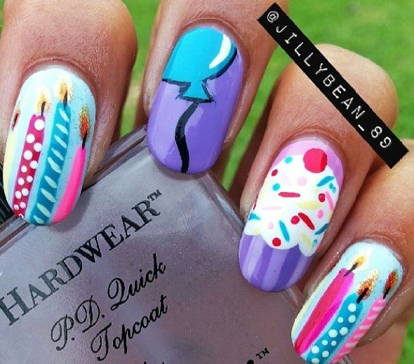 I like the balloon nail art image =)