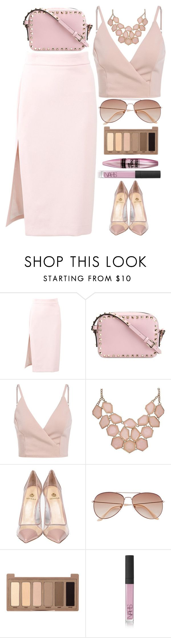 """""""have a nice day girls!"""" by ecem1 ❤ liked on Polyvore featuring MSGM, Valentino, Semilla, H&M, Urban Decay, Maybelline and NARS Cosmetics"""