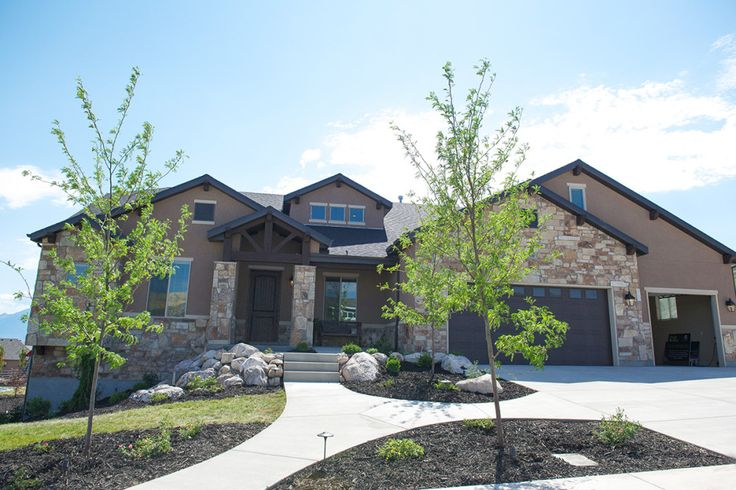 Grand Junction - A Mountain Rustic style rambler house plan - Walker Home Design