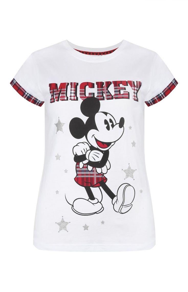 T-shirt Mickey Mouse xadrez