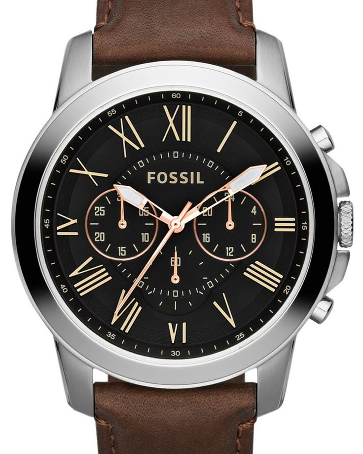 Grant Chronograph Leather Watch by Fossil Online   THE ICONIC   AustraliaGrant Chronograph Leather Watch by Fossil Online   THE ICONIC   Australia