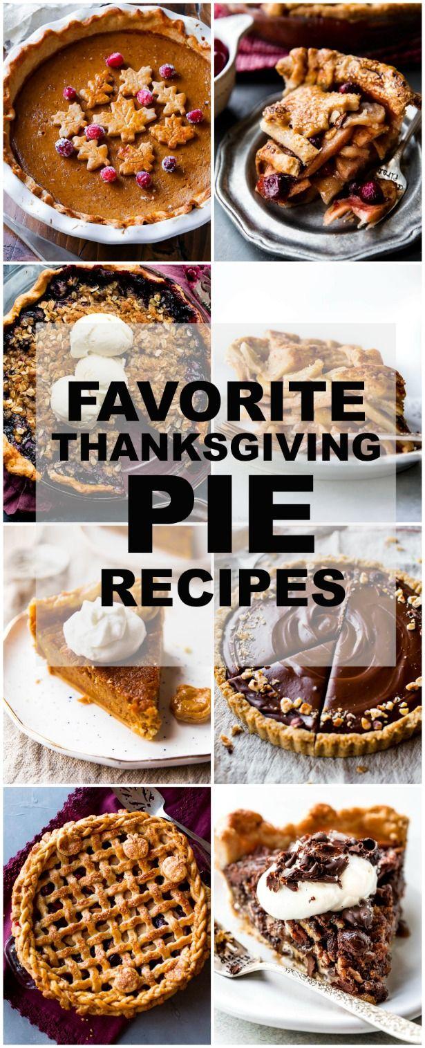 45 of the BEST Thanksgiving pie recipes including pumpkin pie, apple pie, cranberry pie, pecan pie, Nutella pie, sweet potato pie, pumpkin bars, pecan pie bars, and more! sallysbakingaddiction.com