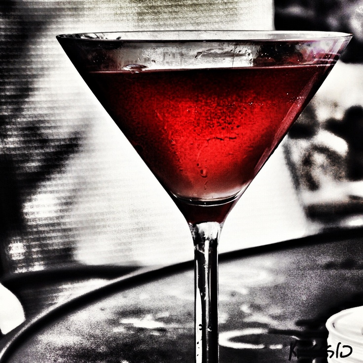 Cosmopolitan, Martini, color splash photography