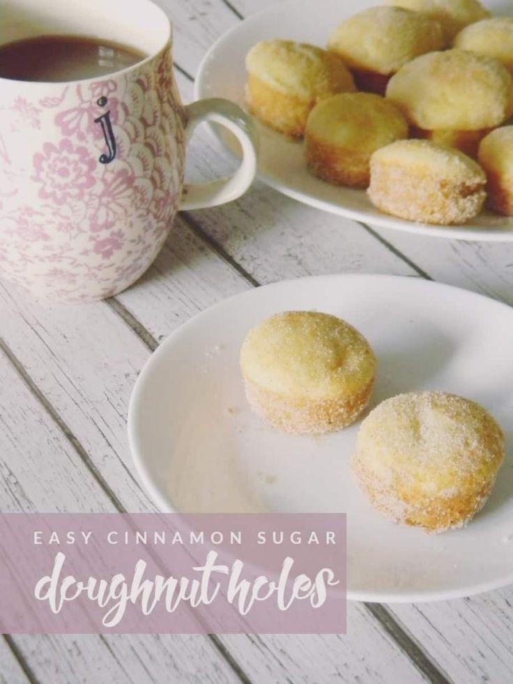 Make breakfast even more delicious with these easy cinnamon sugar doughnut holes! Your stomach will thank you. #doughnut #breakfastrecipe #homemadedoughnut #cinnamon