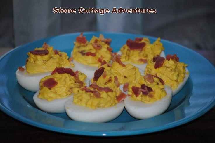 Bacon Ranch Stuffed Eggs