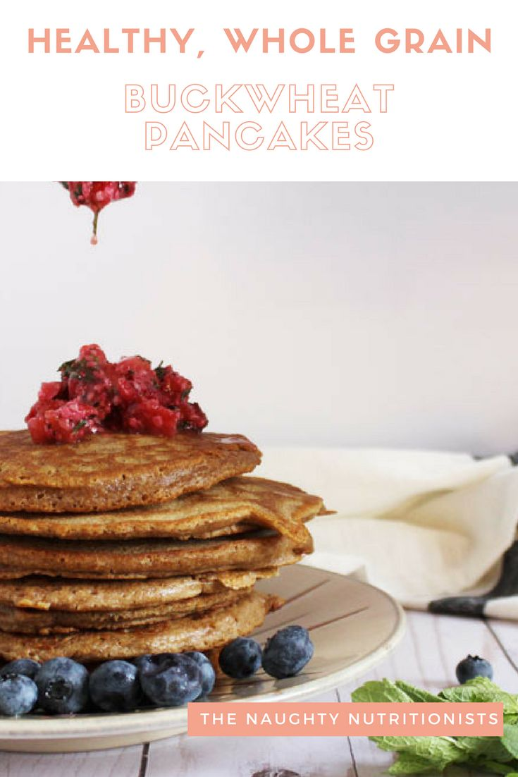 These delicious buckwheat pancakes are #glutenfree and incredibly simple to make. #naughtynutrition