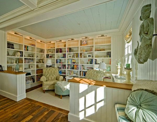 Everything Coastal....: Creating a Beach House Bookshelf