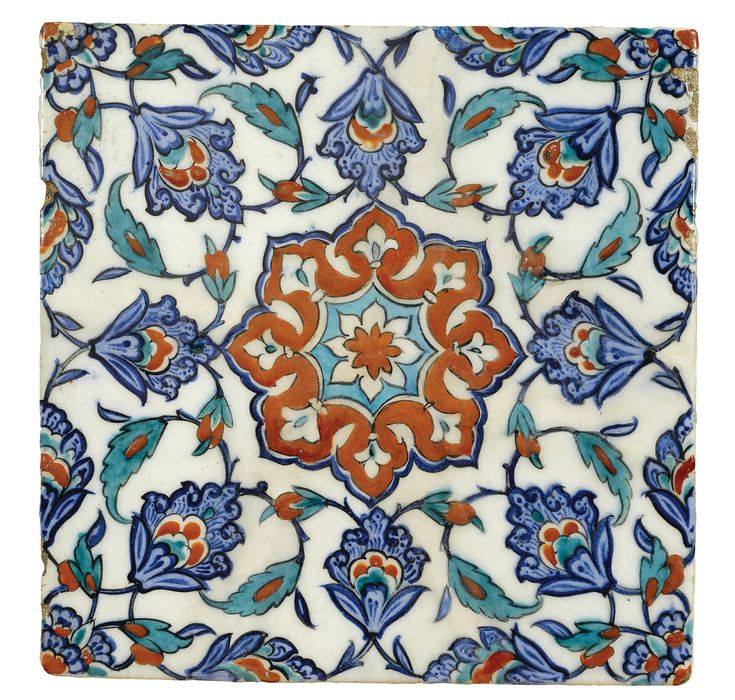 AN IZNIK POLYCHROME TILE, TURKEY, CIRCA 1580
