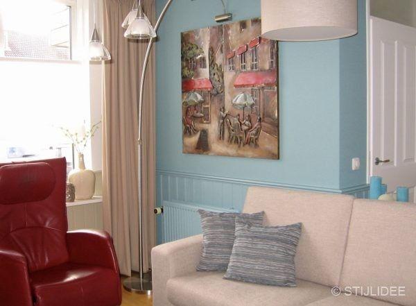 Binnenkijken in ... een woonkamer met stenen wandpanelen in landelijke en Toscaanse stijl in Houten na STIJLIDEE Interieuradvies en Styling via www.stijlidee.nl