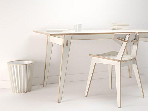 white desk & chair