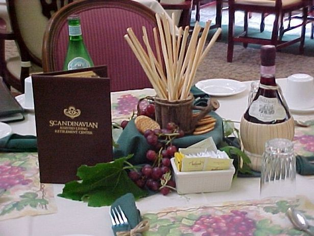 How To Decorate For An Italian Dinner Party Centerpieces