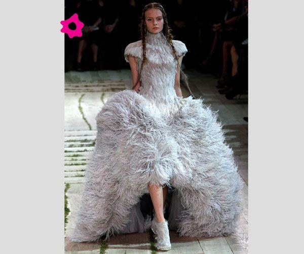 Feathered Wedding Dress by Sarah Burton for Alexander McQueen.