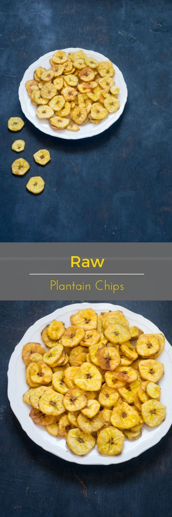 A crisp and tasty raw plantain chips.