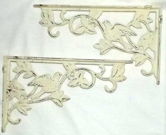Vintage Antique Cast Iron Shelf Brackets by NightOwlConsignments, $32.00