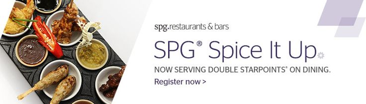 SPG Spice It Up kampanyası ile 1 Mayıs-31 Temmuz tarihleri arasında restoranlarımızda iki kat Starpuan kazanın! Şimdi kaydolun; spg.com/spiceitup  SPG Spice It Up and enjoy double Starpoints® on the house! Register Now; spg.com/spiceitup  #sheraonbursa #spg
