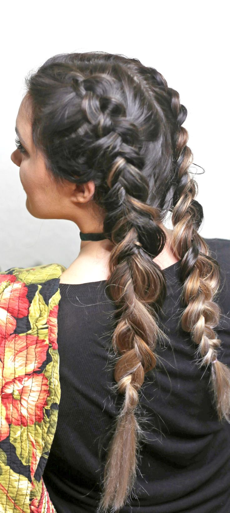 Learn how to create dutch braid ponytails with these easy step-by-step tutorial!