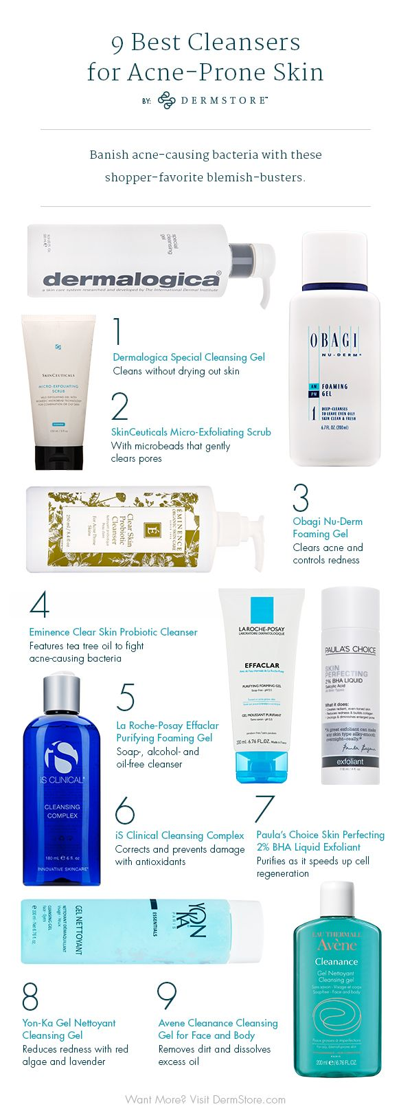 Best Face Cleansers for Acne - DermStore