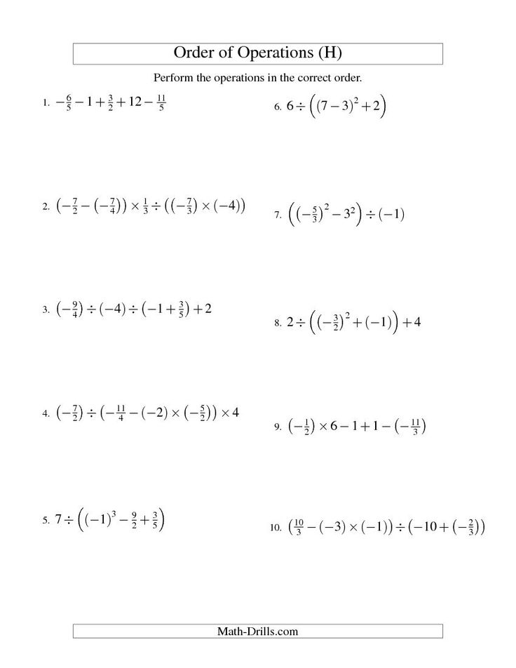 math worksheet : 1000 images about math on pinterest  order of operations  : Negative Fractions Worksheet