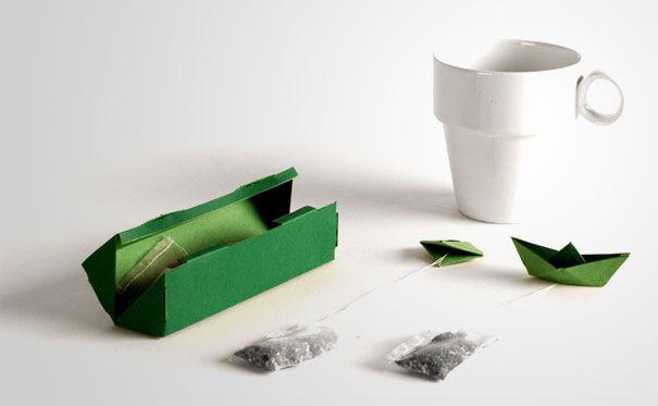 Packaging en Origami pour du thé