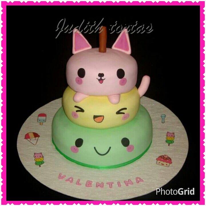 Torta Decorado Y Modelado Con Fondant Quot Kawaii Quot Tortas