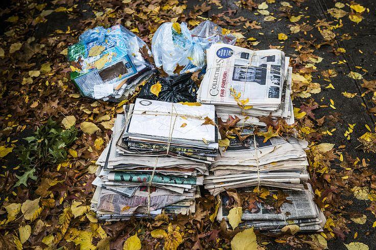 Autumn in New York. #Trash #NewYorkCity #Autumn #Newspaper #Wabisabiphotography #NikonD800 #Yellow #Season #