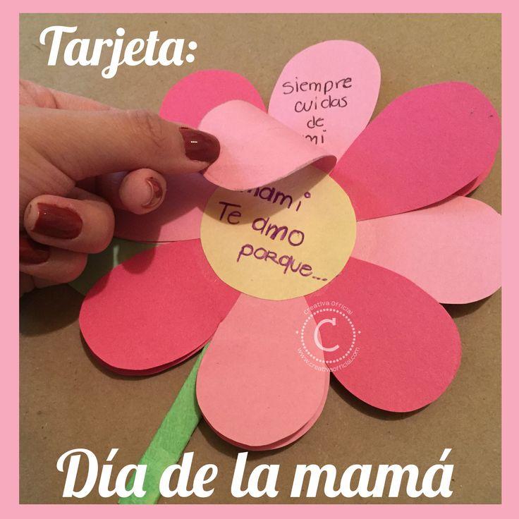 Tárjeta fácil y creativa para el día de las madres - Mother's Day Card | Sorprende a mamá en su día, con esta sencilla pero muy linda y original tarjeta! Dale click a la foto para ver el paso a paso de esta tarjeta :D