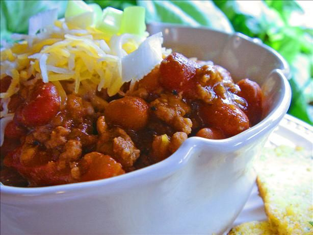 Wendy's chili-really good!  Makes a ton!  I made it in the crockpot with canned tomatoes and green chiles.
