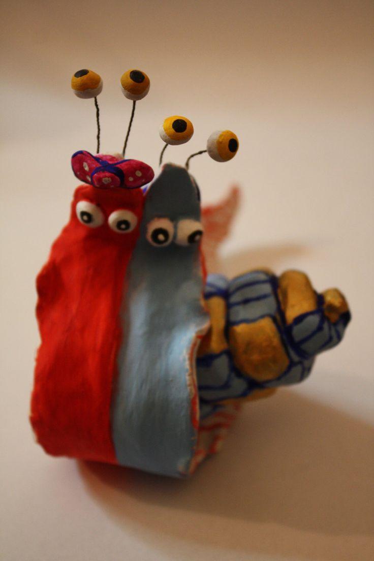 CHIOCCIOLE COPPIA lumaca ceramica porcellana di atelierdangelone su Etsy