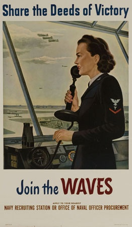 World War II era recruiting poster for the U.S. Navy WAVES. My mom was a WAVE! I have to show her this!!